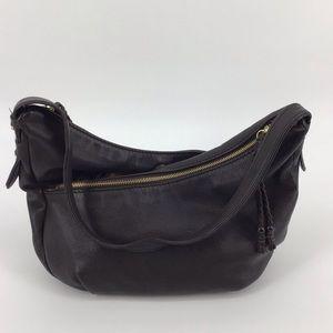 The Sak Deep Brown leather Cross over shoulder bag